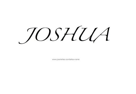 joshua name tattoo designs joshua name designs