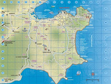 st map tropez area map