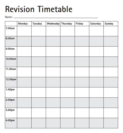 Timetable Outline Template 8 free timetable templates excel pdf formats