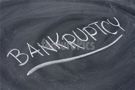 Bankruptcy Number Search Bankruptcy Word On Blackboard Picture
