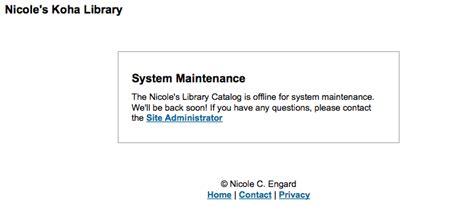 Chapter 2 Administration Website Maintenance Message Template