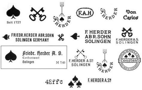 Pisau Herder German logo pisau f herder