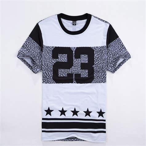 hip hop wear t shirt number 23 printed casual fashion tshirts crewneck