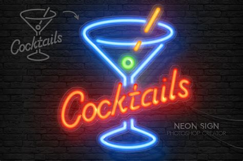 how to make 3d neon light typography photoshop gurus forum neon sign photoshop action by psddude on deviantart