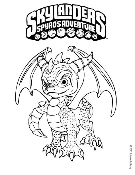 printable coloring pages for skylanders spyro coloring pages hellokids com