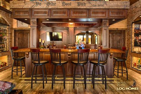 Cabin Pub by Golden Eagle Log Homes Log Home Cabin Pictures Photos Timber Pub 1336ar Log Outside