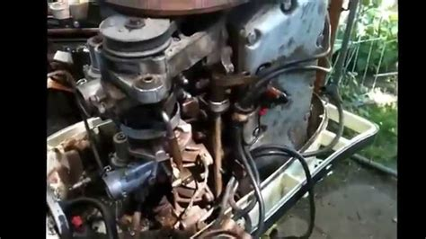 Old Mercury 45 Hp Outboard Carb Removal Youtube