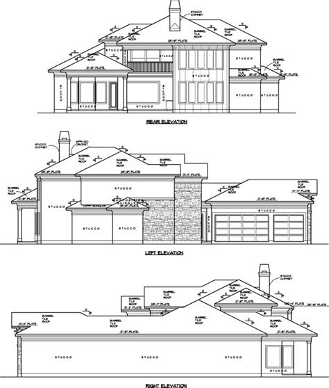 Mediterranean Style House Plans 3442 Square Foot Home Mediterranean House Plans Without Garage