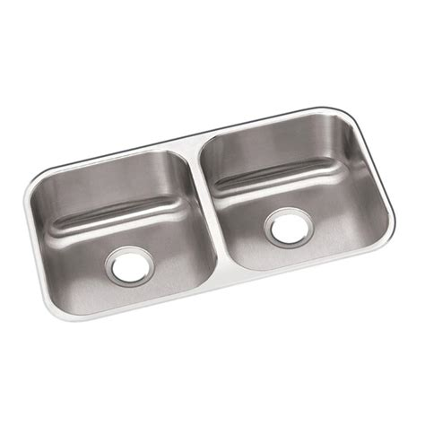 elkay dayton undermount stainless steel 32 in double bowl