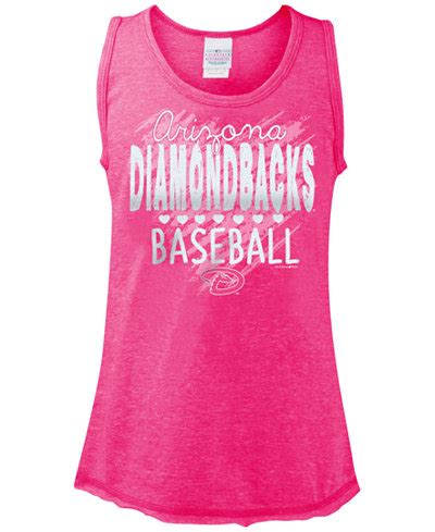 Diamondbacks Gift Cards - 5th ocean girls arizona diamondbacks clear glitter tank top sports fan shop by