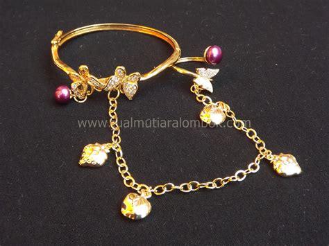 Kalung Alpaka Ratna Gold set mutiara lombok srmt 021 jual mutiara lombok murah