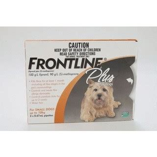 frontline plus for small dogs frontline plus for small dogs up to 10kg 6pk merial