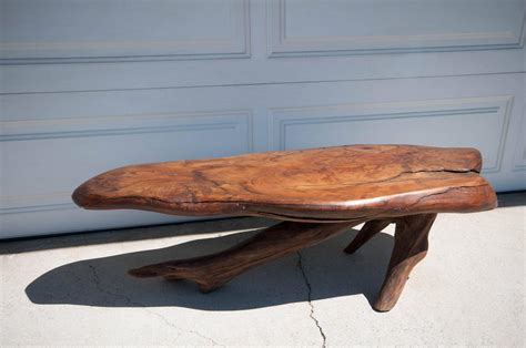 Redwood Coffee Table Vintage Live Edge Redwood Coffee Table For Sale At 1stdibs