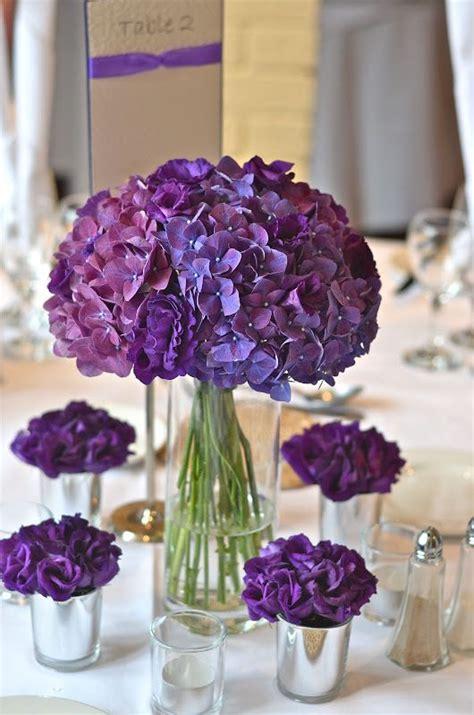 simple  rustic diy hydrangea wedding centerpieces