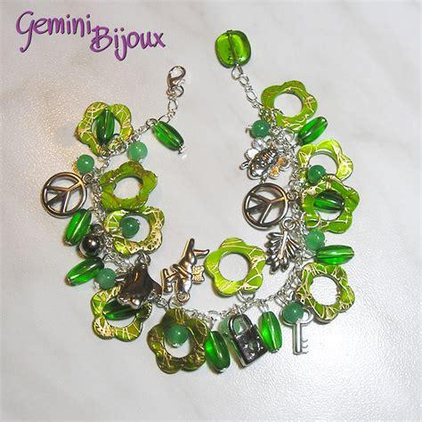 bracciale fiori bracciale fiori verdi madreperla gioielli bracciali e