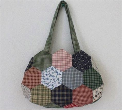 tutorial tas tutorial membuat tas patchwork hexagon dari kain perca