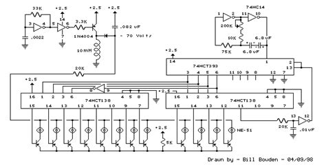 the free information society 12 stage neon sequencer electronic circuit schematic