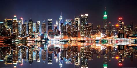 Ohio State Wall Murals deng songquan new york city skyline at night sanatsal