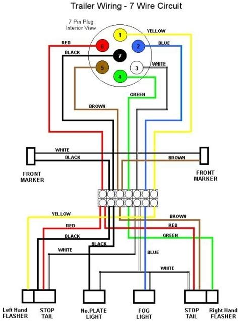 utility trailer light wiring diagram trailer wiring color