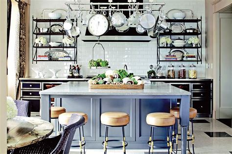 Kitchen Pot Rack Ideas by French Bistro Style Kitchens