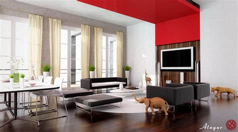 28 Red And White Living Rooms Designer Living Rooms Pictures