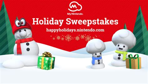 Nintendo Holiday Sweepstakes - nintendo holiday sweepstakes nintendo official site