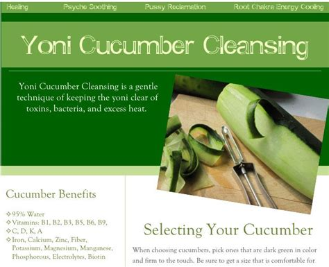 Yoni Detox by Yoni Cucumber Cleansing By Nourienergi On