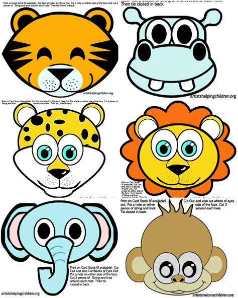 printable wild animal masks coloring pages animals printable eliolera com coloring