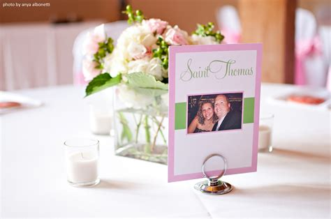 dinner table name cards our wedding reception