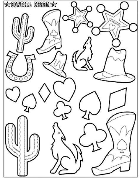 cowgirl coloring page cowgirl charm 2 coloring page crayola com