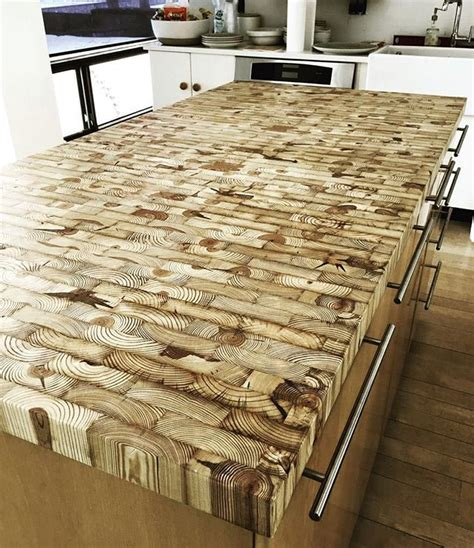 kitchen island made from reclaimed wood end grain kitchen island countertop made from reclaimed