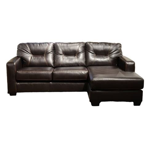 faux leather sectional sofa ashley ashley alluvia reversible 2 piece faux leather sectional
