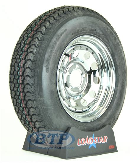 boat tires and rims boat trailer tire st205 75d14 on chrome wheel 5 lug rim by