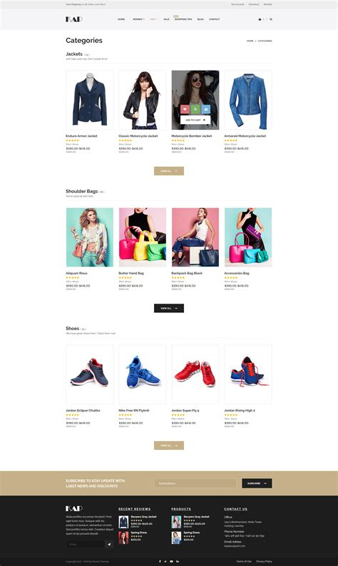 kap elegant ecommerce or woocommerce psd template by