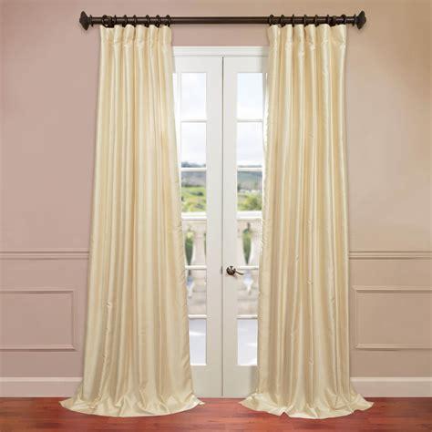 hpd drapes half price drapes winter ivory yarn dyed faux dupioni silk