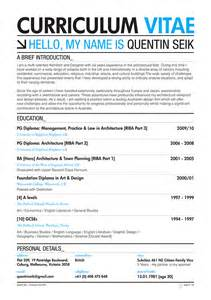 quentin seik curriculum vitae 2011 on behance