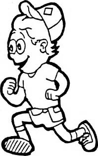 running coloring pages getcoloringpages com