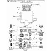 Need Fuse Box Diagram For 2001 Toyota 4Runner