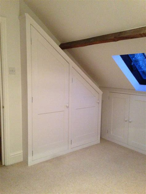 attic loft bedroom 15 best under eaves attic wardrobes storage images on
