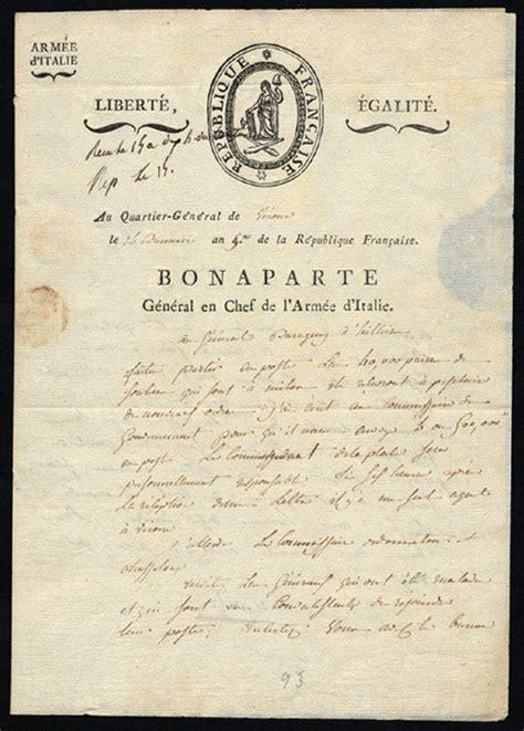 signing a letter robert edward auctions 1796 napoleon bonaparte signed 1624