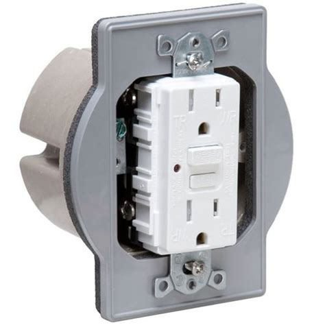 Outdoor Electrical Box For Light Electrical How To Convert This Outdoor L Box To Gfci Receptacle Home Improvement Stack