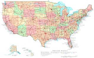map of the united states with major cities and highways