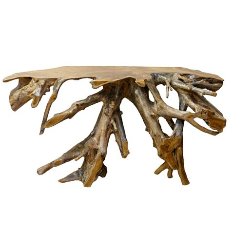 teak root console table teak root console table side table telephone