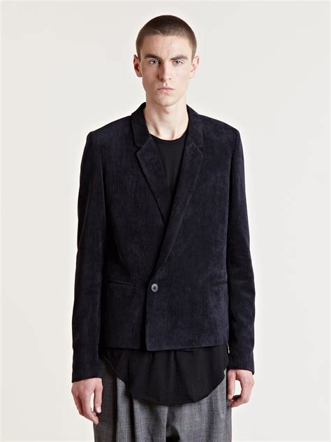 Fashion Find Front Drape Jacket by Damir Doma Mens Joroa Front Draped Jacket In Black For