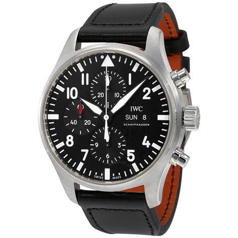iwc pilot black automatic chronograph s iw377709