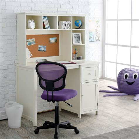 Piper Student Desk With Optional Hutch Set Vanilla At Desk For Bedroom