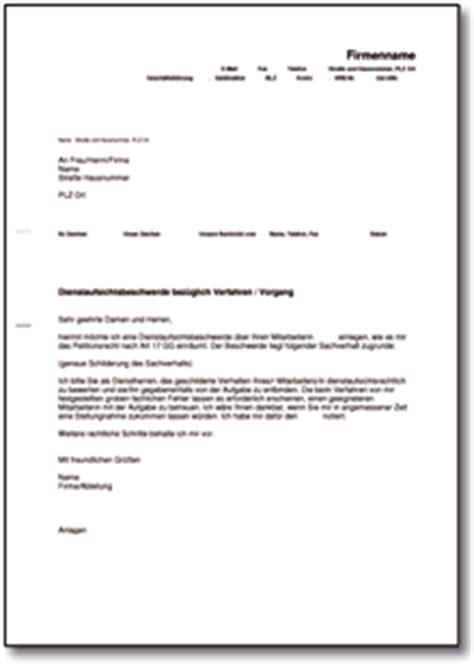 Beschweren Brief Beispiel Dienstaufsichtsbeschwerde De Musterbrief