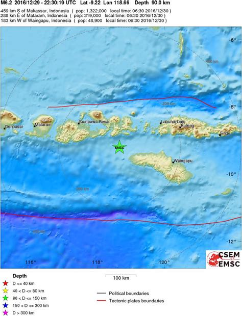 earthquake prediction indonesia 20161229 sumbawa region indonesia