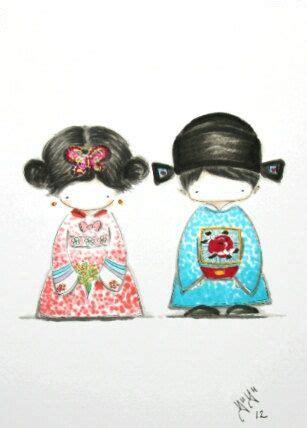 Hanbok Korea Original korean hanbok original drawing for wedding by