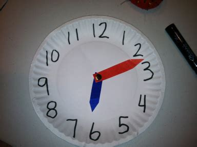 A Paper Clock - paper plate clock happy accidents happen